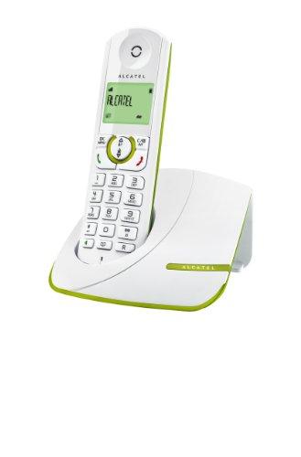 Alcatel Versatis F370 - Teléfono fijo inalámbrico, blanco y verde
