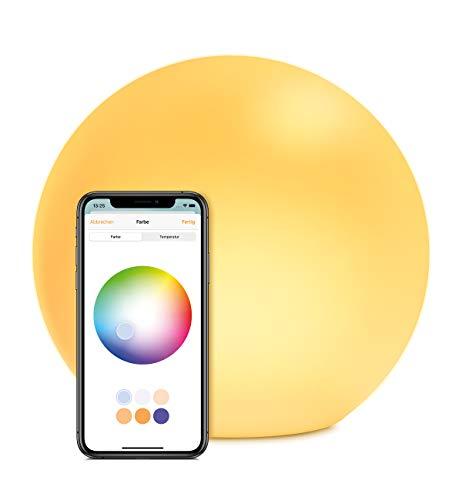 ve Flare - Portable smarte LED-Leuchte mit Apple HomeKit-Technologie, IP65-Wasserbeständigkeit, kabelloses Laden, weißes und farbiges Licht