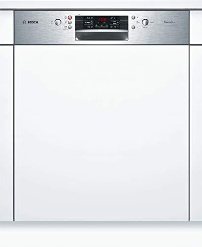 Bosch SMI46LS00E Serie 4 Geschirrspüler Teilintegriert / A++ / 60 cm / Edelstahl / 262 kWh/Jahr / 13 MGD / SilencePlus / Extra Trocknen / VarioSchubalde