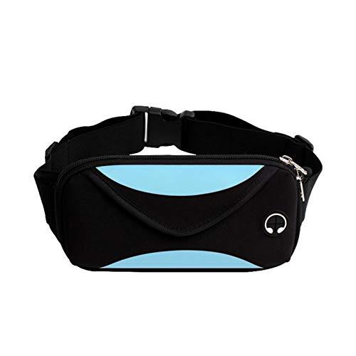 hgkl Riñoneras Bolso De Cinturón Impreso para Hombres, Bolsa De Correa De Viaje De Moda Casual De Las Señoras, Bolso De Cinturón De Bicicleta De Teléfono Móvil (Color : Black)