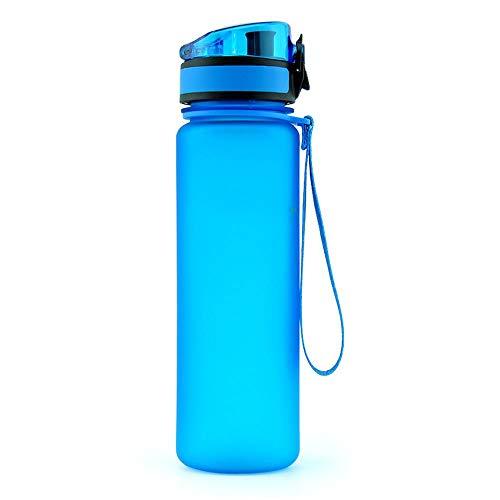 Yuan Ou Borraccia Termica Borraccia Sportiva Shaker per proteine da Viaggio per Esterni Bicchieri Portatili a Tenuta stagna Plastica Blu 350 ml