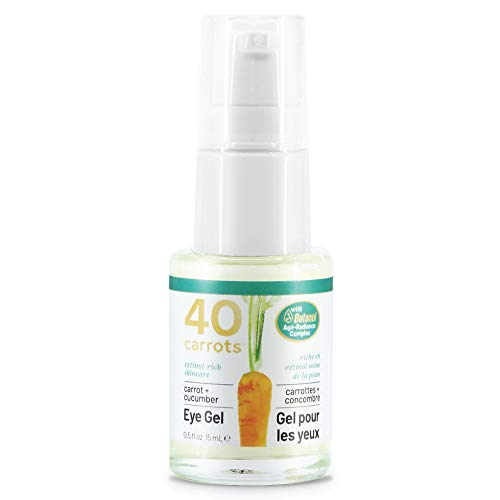 40 Carrots Carrot and Cucumber Eye Gel - Instantly De-ages and Wakes Up Tired Looking Eyes, Paraben Free .5 fl oz (14.8 ml)