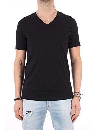 A|X Armani Exchange Camiseta Básica Pima V Cuello para Hombre, playera básica de cuello en V Pima, M, Gris Heather