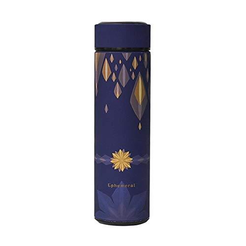 480ml geïsoleerde reismok Thermos Double Wall roestvrijstalen thermosflessen Thermos Cup koffie thee melk waterfles, bloem geel, 480ml