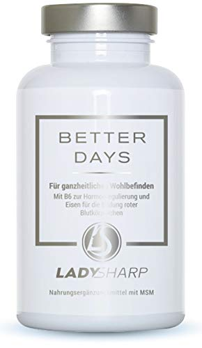 BETTER DAYS® - Frauen-Vitamine und hochwertige Pflanzenextrakte - komplexe Rezeptur: 19 hochdosierte Inhaltsstoffe   natürlich und hormonfrei für die weiblichen Bedürfnisse   90 Kapseln als Monatskur