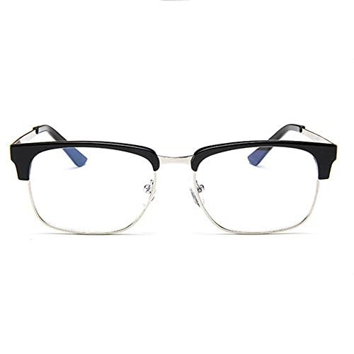 MeterBew1147 Personalidad Coreana Espejo Plano Retro Marco Espejo Moda Marco de anteojos Metal Medio Marco miopía Gafas