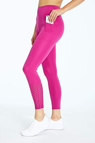 Bally Total Fitness Chevy Damen Leggings mit hoher Taille und Taschen, Damen, knöchellange Leggings, Chevy High Rise Ankle Pocket Legging, Wilde Aster, Medium