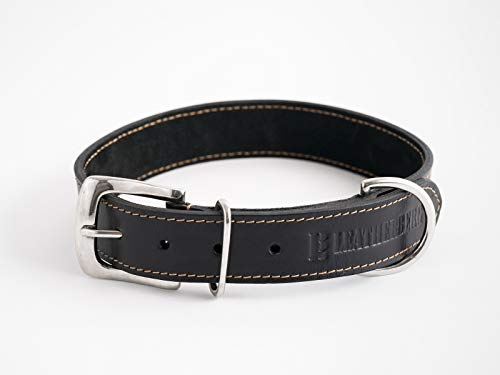 LEATHERBERG Leather Dog Collar Brown