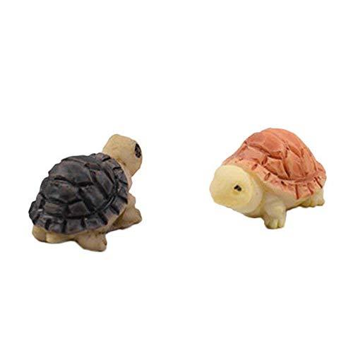 2 mini casetta per bambole, colore giallo e nero, con tartaruga, bonsai, decorazione miniatura, miniatura, micro paesaggio fata, giocattolo per la casa delle bambole