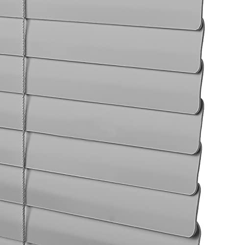 Estor enrollable persianas venecianas Persianas Venecianas de Aluminio Gris - 110cm/105cm/150cm/120cm Width de Ancho, Ventanas Baño Cocina Hogar Oscurecedor de La Habitación, Kit de Montaje Incluido