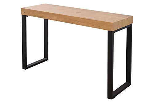 DuNord Design Laptoptisch Schreibtisch Bürotisch Holz 120cm Eiche Optik schwarz Tisch Komode