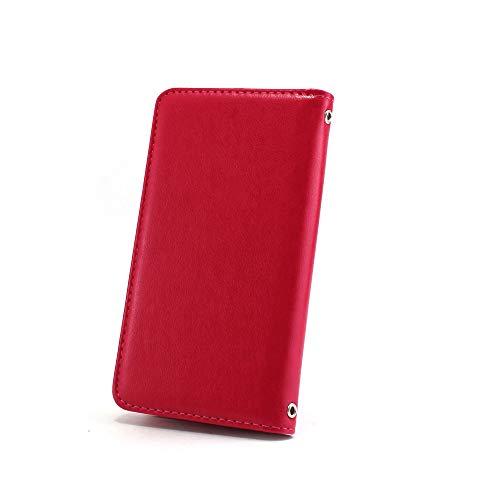 ホワイトナッツ iPhone7 Plus ケース 手帳型 【左利き】 ベルトなし スタイリッシュ マゼンタ スマホケース アイフォンセブン プラス 手帳 カバー スマホカバー WN-OD495942_LL