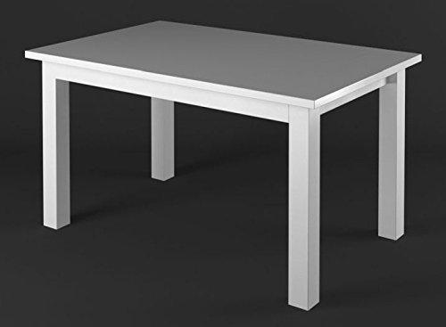 Esstisch Kiefer Vollholz massiv weiß Lagopus 23 - Abmessungen: 180 x 90 cm (B x T)
