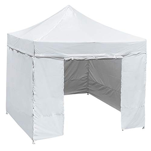 HullaBalloo Sales Canopy Tent 10x10 Pop Up Canopies with Removable Side Walls Commercial Heavy Duty Easy Pop-Up Instant Shelter Includes Carry Bag Stakes and Rope