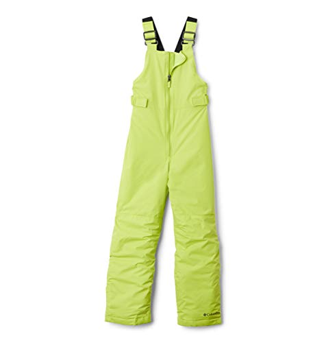 Columbia Baby Boys' Toddler Girls' Snowslope Ii Bib Snowpant, Bright Chartreuse, 4T