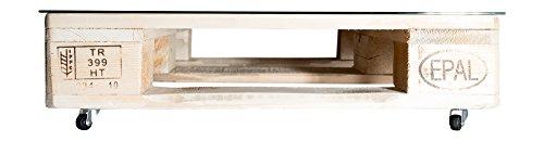 RelaxedLiving Bijzettafel van pallets - met een lade 67 x 80cm