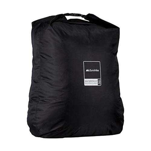 Eurohike Waterproof Rucksack Liner 55-75L, Black, One Size