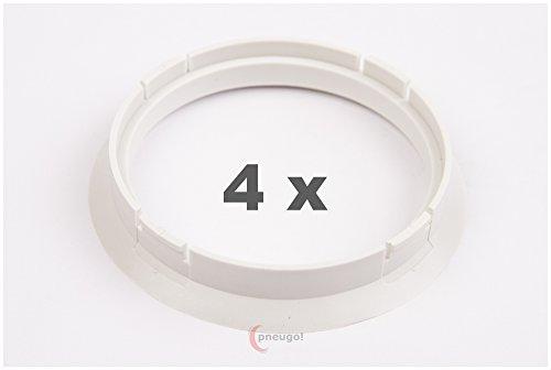 4 x anelli di centraggio 72,5 su 65,1, bianco.