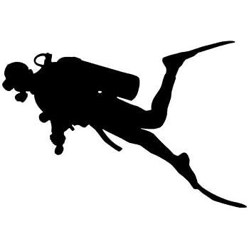 MULTI-COLOR 8-12 Scuba diving life decal sticker for car windows
