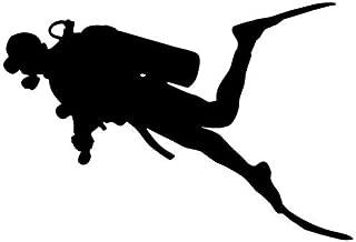 scuba diver silhouette decal