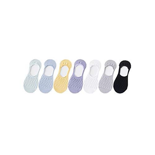 calcetín de Hombre Siete Pares Finos del Verano Barco pegan a la Hembra for no Caer talón Boca Superficial Antideslizante Verano Mujer (Color : B)