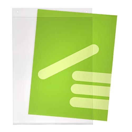 DIN A3 Plakattasche/Acrylglastasche / Einschubtasche im Hochformat mit 2 Bohrlöchern