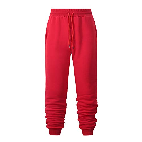 Men's pants men Sweatpants Red