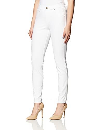 Hue Women's Essential Denim Jean Leggings, Assorted, White L, Large