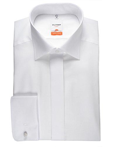 Olymp Hemd Gala weiss, Einfarbig, Größe 44 - XL