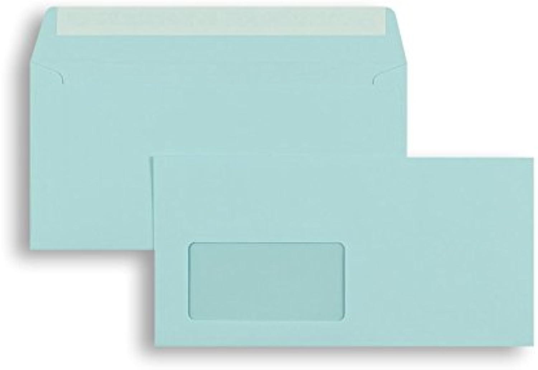 Farbige Briefhüllen   Premium   110 x 220 mm (DIN Lang) mit Fenster   Blau (250 Stück) mit Abziehstreifen   Briefhüllen, KuGrüns, CouGrüns, Umschläge mit 2 Jahren Zufriedenheitsgarantie B01DULE9U2 | Ab dem neuesten Modell