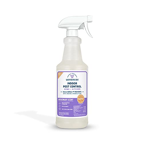 Wondercide - Indoor Pest Control Spray for Home and Kitchen - Ant, Roach, Spider, Fly, Flea, Bug...