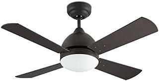 Ventiladores de techo con luz y mando color marrón cobrizo 4 palas reversibles Wengué / Haya - BORNEO