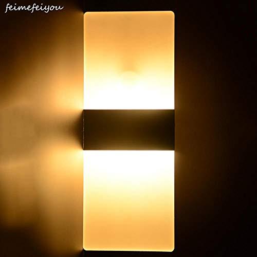 GYBYB 6W 29cm PIR Detector de movimiento + Sensor de luz lampada Luz led Infrarrojo Cuerpo humano Lámpara de inducción Lámparas de pared @ Black_29cm_white