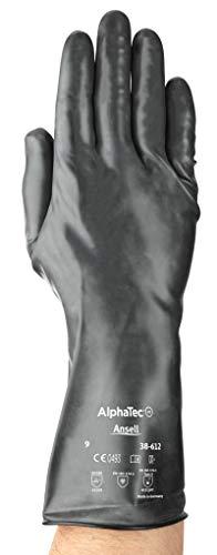 Ansell ChemTEK 38–612/9Viton/Butyl-Handschuh, der Schutz vor Chemikalien und Flüssig, Gr. 9(12Paar) Tasche schwarz