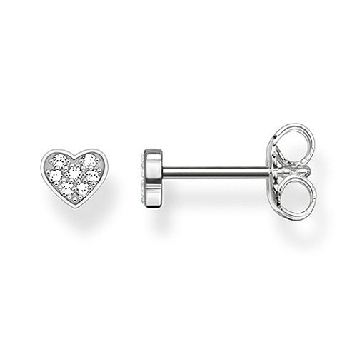 Thomas Sabo Damen-Ohrringe Ohrstecker Glam & Soul 925 Sterling Silber Diamant Pavè weiß 0,4 cm D_H0003-725-14