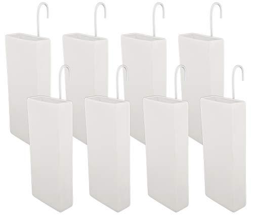 Luftbefeuchter für Heizung Set inkl. Haken - Keramik Wasserverdunster - beige matt - Wasserverdunster verdampfer verdunster Luftreiniger - Neutral - 8 Stück