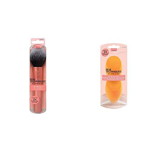 Real Techniques Puder Make-up Pinsel (Verpackung und Grifffarbe können variieren), 1er Pack (1 x 1...