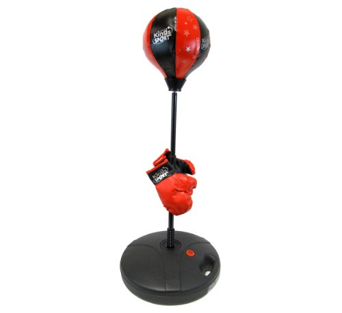 "Velocity Toys Children's Beginning Freestanding Reflex Punching Bag w/ Pair of Gloves, Adjustable Height 48"""""