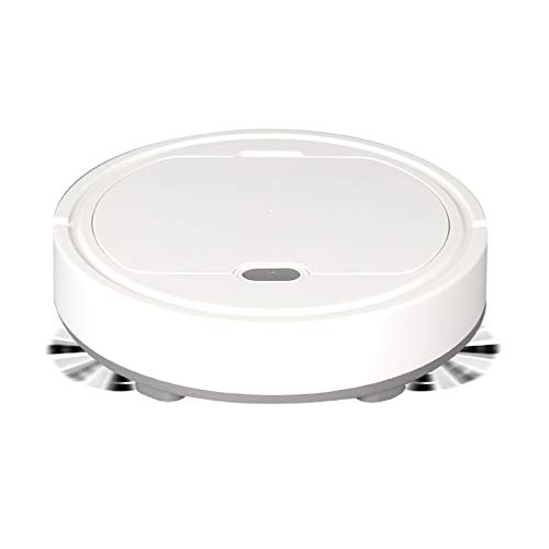 N \ A Robot Vacuum Cleaner,1500Pa Strong Suction Robotic Vacuum Cleaner,USB Charging Robot Vacuum,Up to 60mins Runtime,for Good for Pet Hair, Carpets, Hard Floors(White)