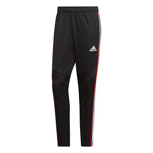adidas Men's Tiro 19 Training Pant Black/Power Red/White/Bold Blue Medium