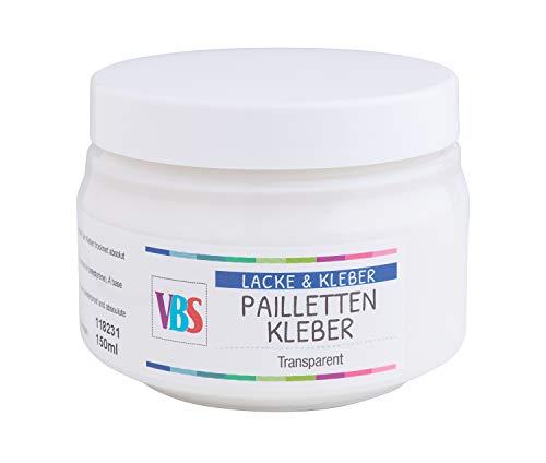 VBS Paillettenkleber 150ml Schmucksteinkleber Klebbstoff klar Kleber