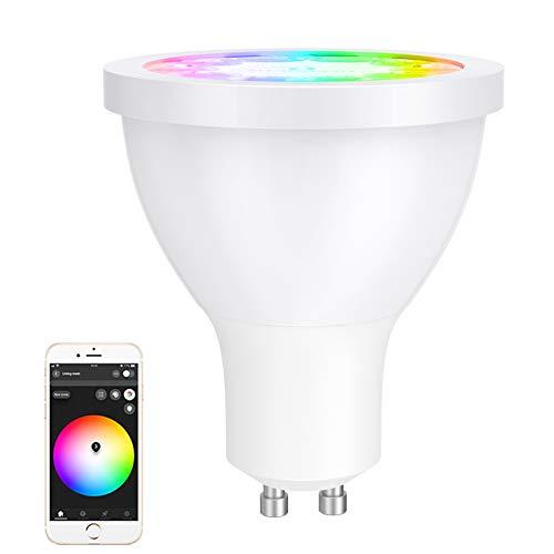 GLEDOPTO GU10 Wifi Bombilla Inteligente 2700K-6500K Bombilla LED Regulable RGB Multicolor, Compatible con Philips Hue/IKEA TRADFRI/Amazon Alexa/Google Assistant (Hub Requerido)