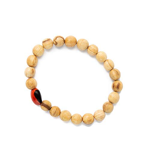 Luna Sundara Palo Santo and Huayruro Charm Bracelet Handmade in Peru Highly Aromatic and Spiritually Cleansing