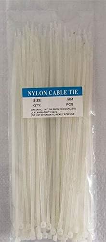 100pcs 10x600 10600mm Houston Mall 8.8mm Width Max 74% OFF White Network Black Nylon66