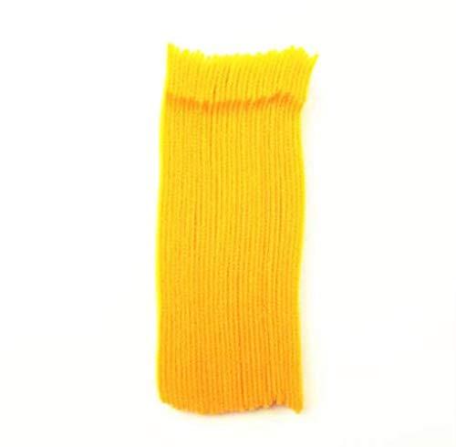20PCS herbruikbare plakband met ooggaten T-type zelfklevende bevestigingstape zelfklevende klittenband Magic Tape Tie, geel 20cm