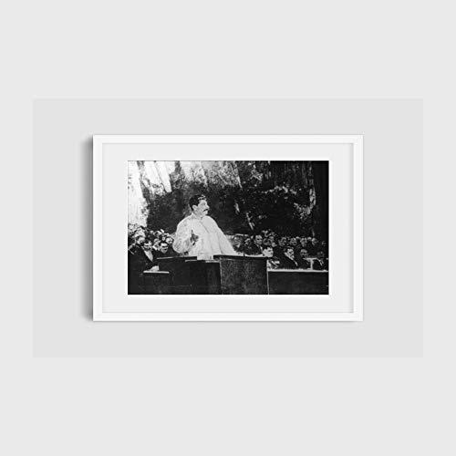 INFINITE PHOTOGRAPHS Photo: Joseph Stalin, 1878-1953, at Podium, Large Audiences, Flags 1