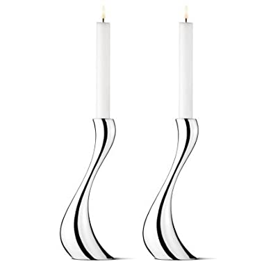 Georg Jensen COBRA candleholder, large, 2 pack