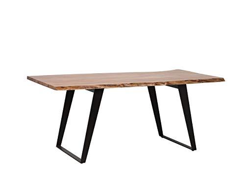 Tavolo da Pranzo Moderno con Piano in Legno 200x100cm Jaipur