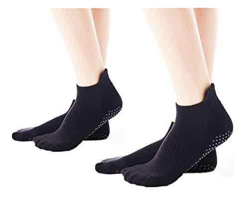 SANIQUEEN.G Mannen en Vrouwen Niet Slip Skid Yoga Sokken met Handvaten voor Yoga/Barre Pilates/Fitness/Dans -Size UK 2.5-7
