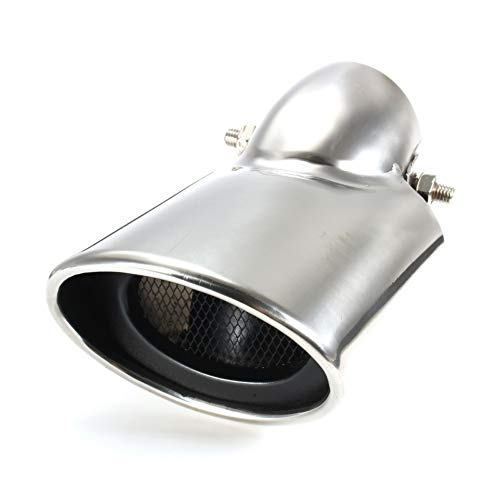 N/A Coche 56mm Tubo de Escape Punta de Escape Silenciador de Tubo de Cola Trasero Acero Inoxidable Cromo para Honda/Civic 9th 2012-2014